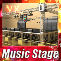 Music Stage - High Detailed